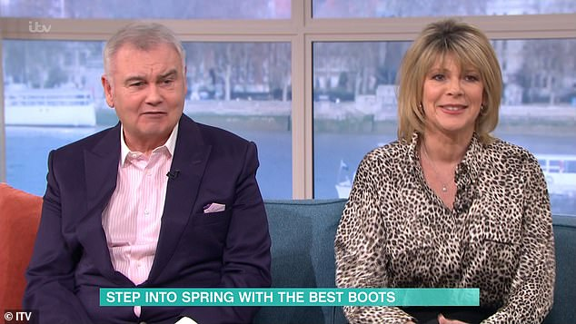 'Just shush!': Eamonn was also scolded by wife Ruth Langsford who told him to 'just shush now'