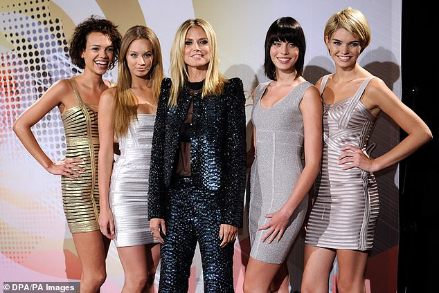 Kasia (second from left) had risen to fame on TV show Germany's Next Top Model where she appeared in 2012 aged just 17. She finished fourth, and went on to make a number of other TV appearances before she began dating Boateng