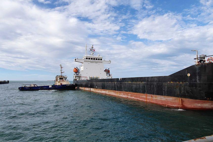 Vessel docked in Dampier Port.