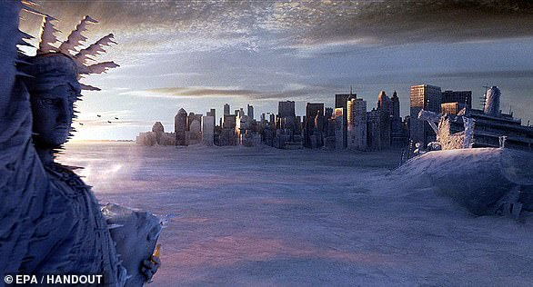 In the 2004 film 'The Day After Tomorrow,' New York City's temperature dramatically dropped to a point that a deep freeze appeared within a day.Scientists say the film plays up the shift, which would take decades to see, but note temperatures would dramatically decrease along the eastern US coast