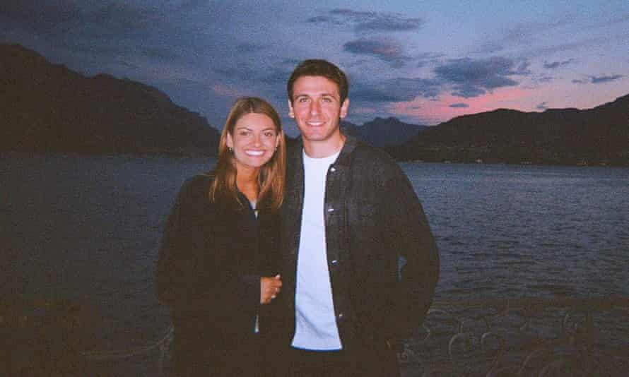 Georgie and Max in Lake Como, Italy.