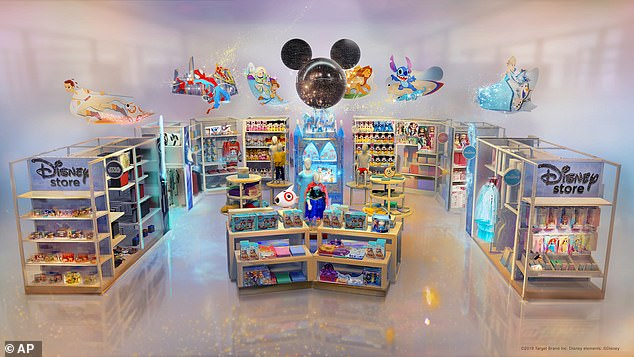 Target announced plans for special Disney shops in 2019, which is now open in more than 40 locations