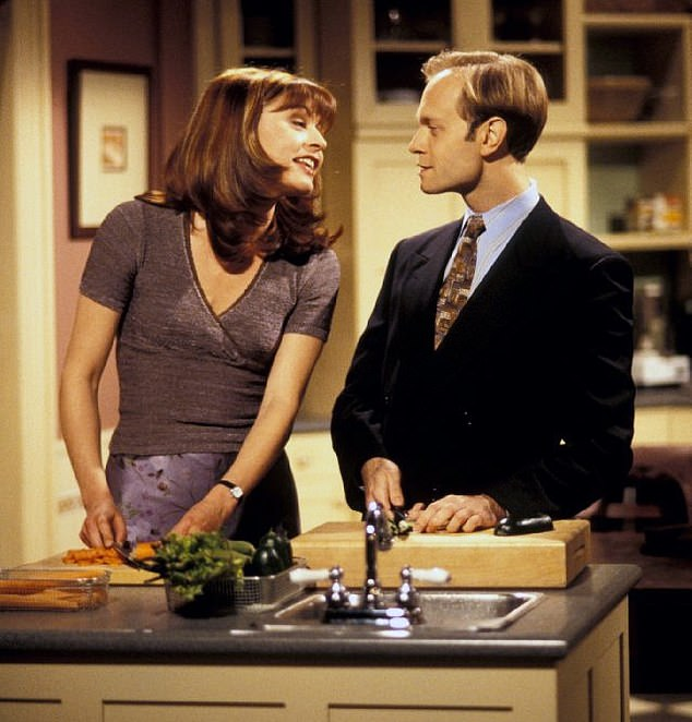 'I gleefully anticipate sharing the next chapter in the continuing journey of Dr Frasier Crane,' announced Grammer, mimicking the orotund phraseology of his character. He failed to say whether the show's other stars, including David Hyde Pierce as his equally prissy brother Niles, and Jane Leeves as Niles's earthy wife Daphne (above, together), would be involved, provoking horror among fans