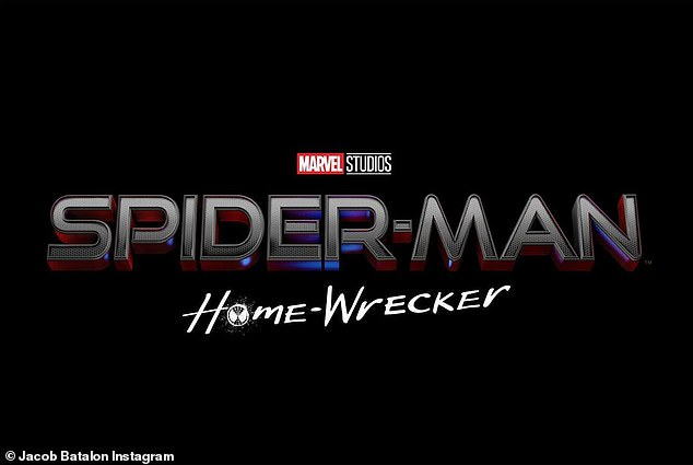 Jacob's title: Batalon's  fake title wasSpider-Man: Home Wrecker, along with a new photo from the sequel, which is still filming in Atlanta and slated for release on December 21.