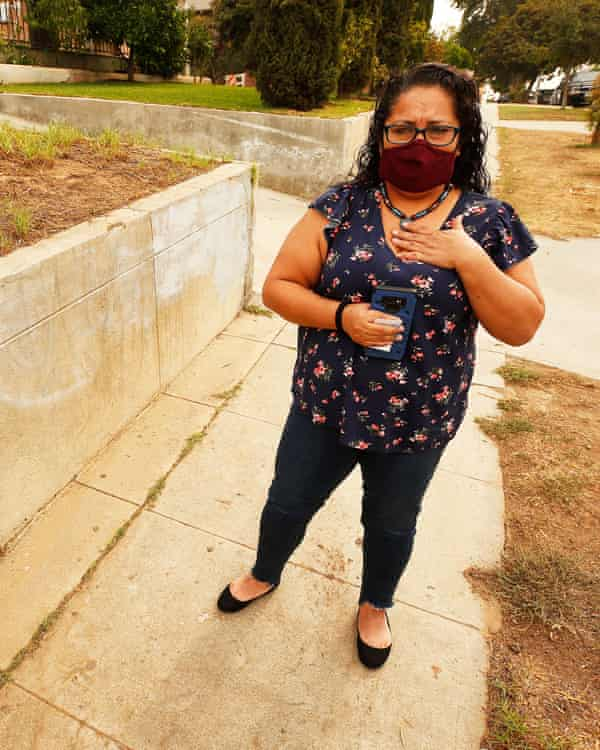 Terry Gonzalez-Cano outside her home.