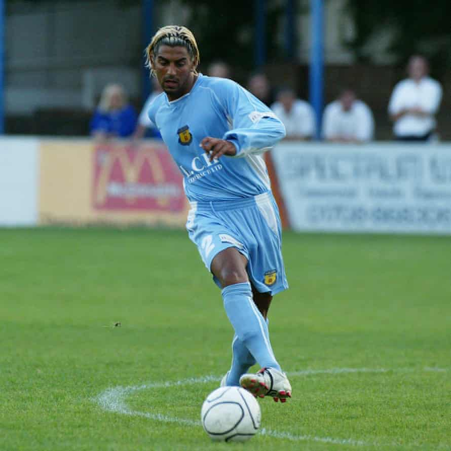 Ram Marwa in action for Grays Athletic during a friendly against Leyton Orient, whom he also played for, in August 2005
