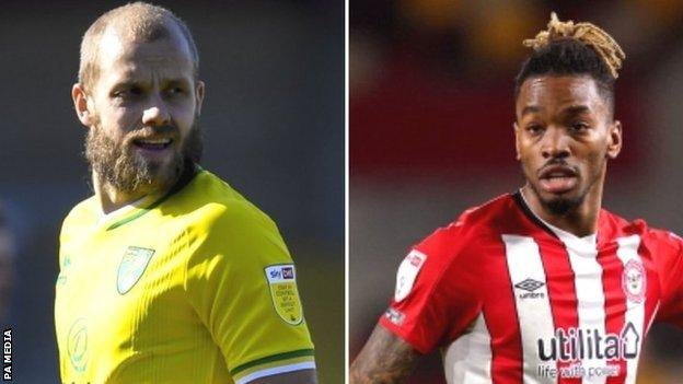 Two of the Championship's best three strikers, 18-goal Teemu Pukki and 25-goal top scorer Ivan Toney, will be in opposite sides at Carrow Road