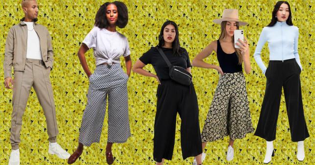 a range of comft trousers