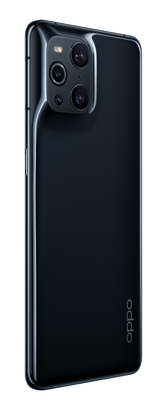The Oppo Find X3 Pro moulds the cameras into the phone's unibody (Oppo)