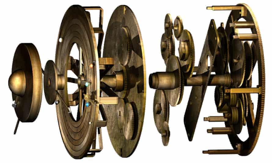 Computer model of the mechanism's gears