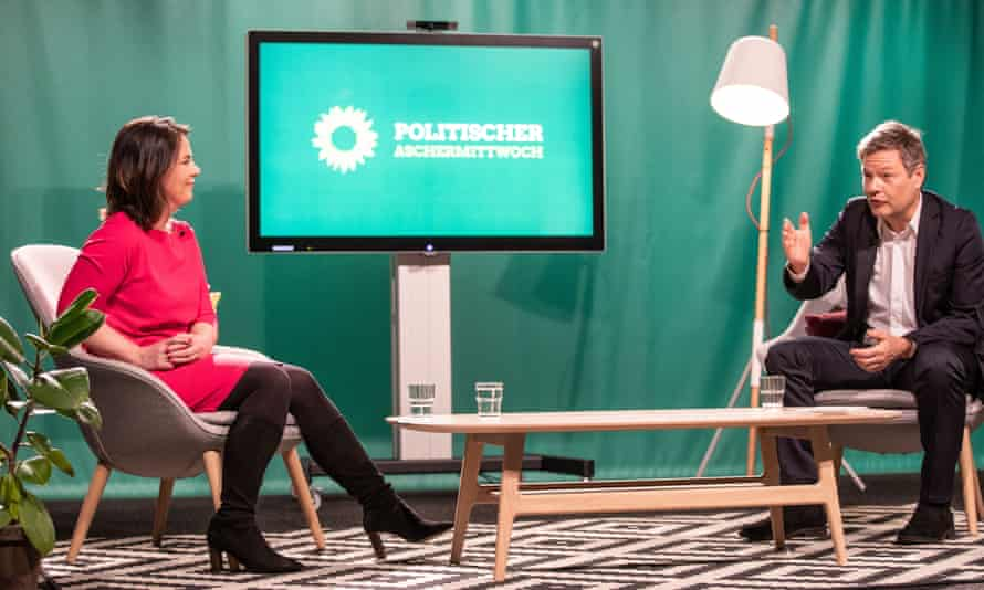 Co-leaders of the national German Green party, Annalena Baerbock and Robert Habeck.