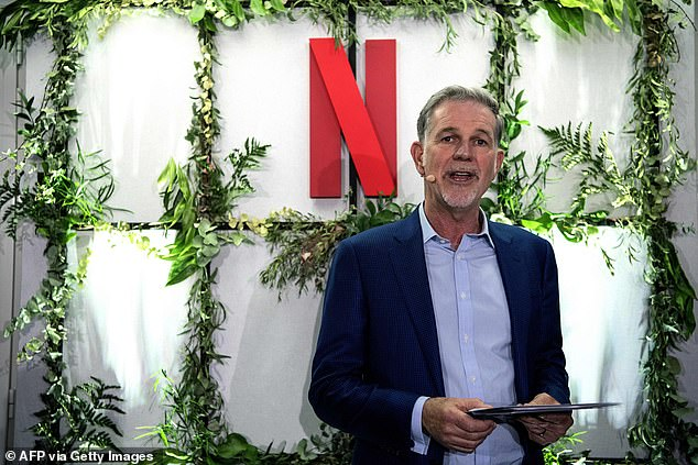 Co-Founder and director of Netflix Reed Hastings delivers a speech as he inaugurates the new offices of Netflix France, in Paris in January 2020. Hastings addressed password sharing during an earnings webcast in 2016, saying it 'is something you have to learn to live with'