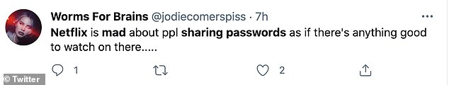 Netflix users took to Twitter to voice their discontent about the clampdown on password sharing