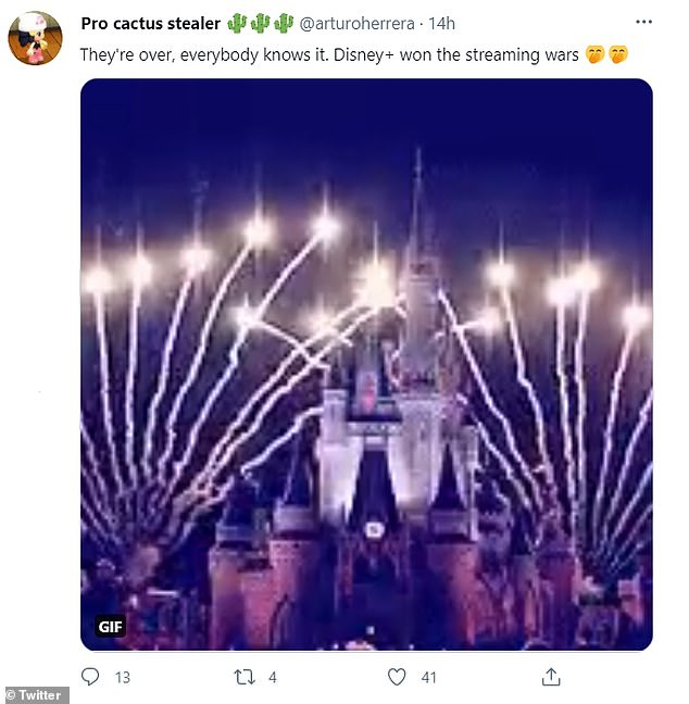 Another Twitter user saidrival Disney+ had 'won the streaming wars'. Disney+ has just introduced a new channel featuring a wide range of content for older viewers