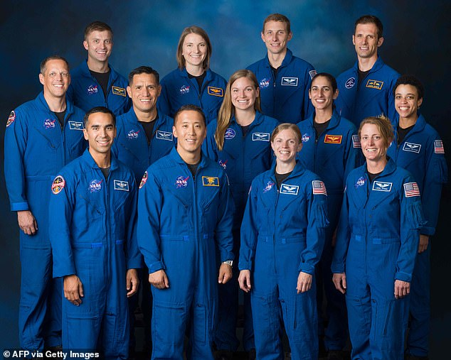 A group of 13 astronauts have joined NASA under the mission that will bring the first female to the moon and some may be the first humans to step on Mars.(Top row, L-R) Matthew Dominick, Kayla Barron, Warren Hoburg, and Joshua Kutryk of CSA, (middle row, L-R) Bob Hines, Frank Rubio, Jennifer Sidey-Gibbons of CSA, Jasmin Moghbeli, and Jessica Watkins, (bottom row, L-R_) Raja Chari, Jonny Kim, Zena Cardman, and Loral OHara