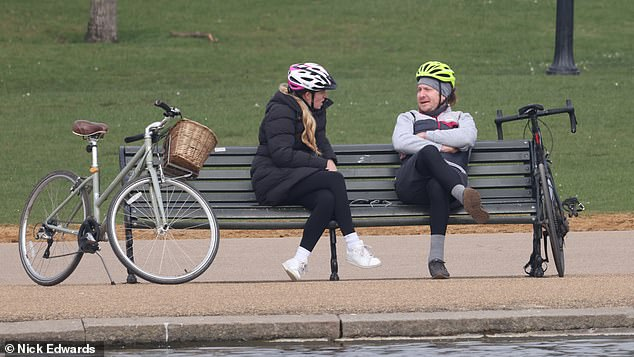 Britons meet in Hyde Park. Boris Johnson has eased some lockdown restrictions to allow two people from two different households to meet outdoors