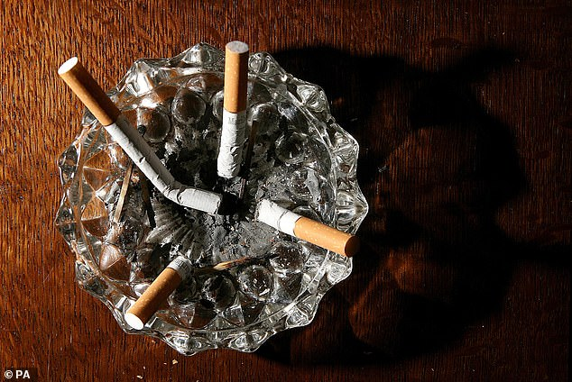According to evidence published in the medical journal Cochrane Library, smokers who quit for at least six weeks saw a noticeable improvement in their mental health (file photo)