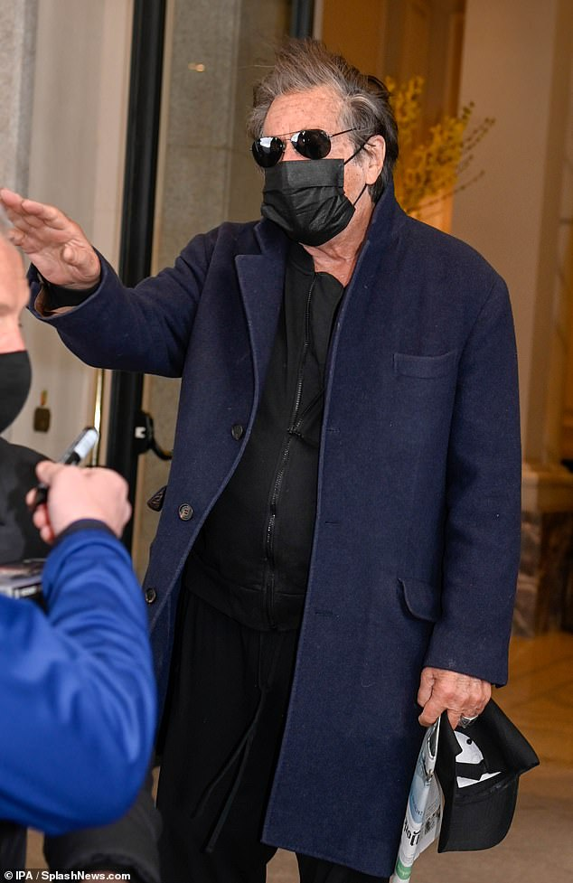 Safety comes first: Rounding things off, Al styled his outfit with aviator shades and stayed protected in a face mask amid the coronavirus pandemic