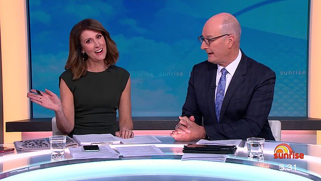 'We were never convinced she could do this after 18 years':Kochie congratulated his co-star on the new gig, but joked with a cheeky smirk that they didn't know if she was capable