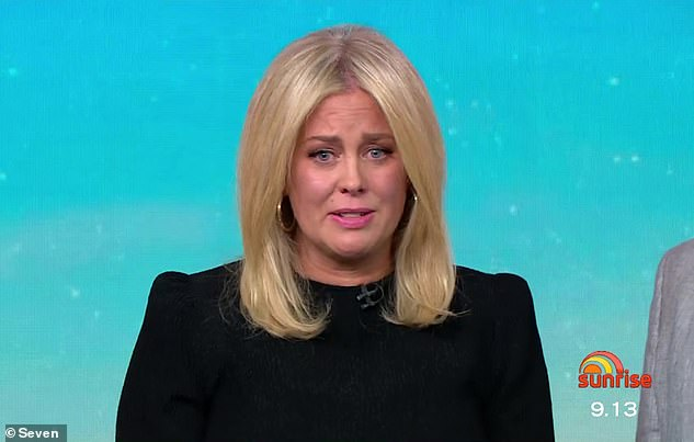 Gone:Sam, 44, marked her last day on Sunrise on Thursday and broke down in tears during an emotional farewell