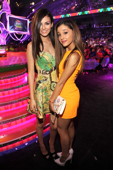 Victoria Justice and Ariana Grande attend Nickelodeon's 27th Annual Kids' Choice Awards