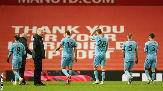 West Ham players after full-time