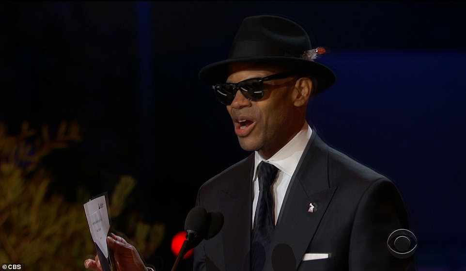 The award was presented by two of the most iconic producers of all-time - Babyface and Jimmy Jam - as Jam proudly made the announcement saying: 'Oh! Okay, wait a minute, history has just been made, breaking the all-time record for the most Grammy wins ever by any female artist or any singer male or female, the Grammy goes to Beyonce!'
