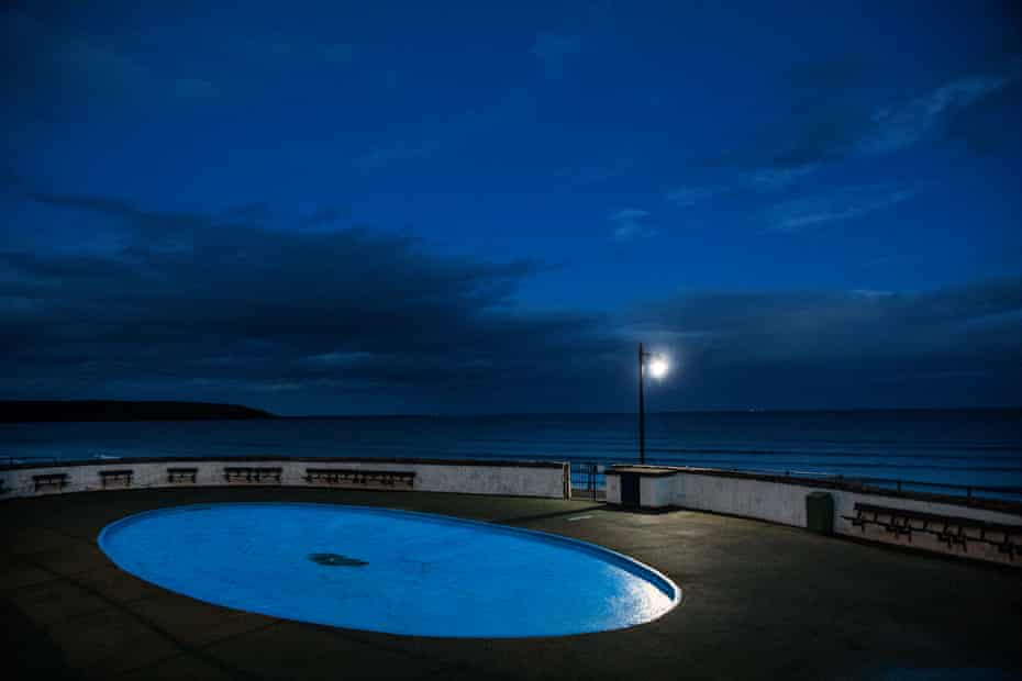 The children's paddling pool on Filey promenade.