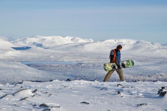 Skiing on the Glencoe Mountain Range