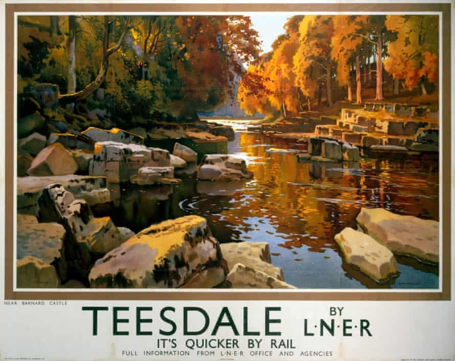 Vintage LNER poster advertising Teesdale trips.