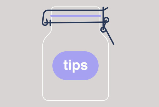 A tips jar, empty container for coins, restaurant service
