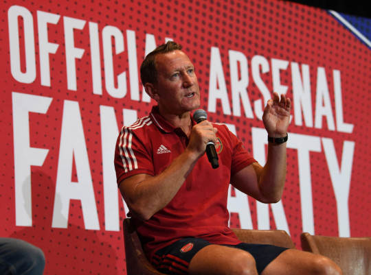 Ray Parlour speaks at an event on Arsenal Pre-Season Tour of the United States