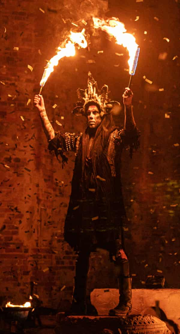 Nergal performing live.