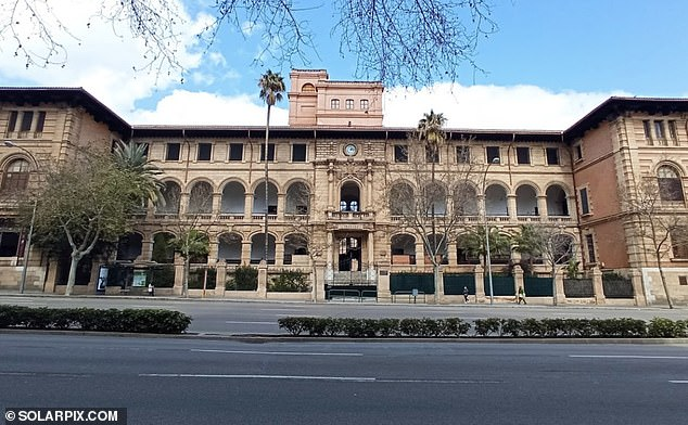 The last sighting of Taya is said to have been outside Ramon Llull secondary school (pictured) in Avenida Portugal in Palma