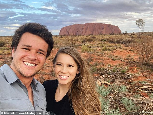 Chance encounter: Bindi first met Chandler in 2013, when the American former wakeboarder went on a guided tour of Australia Zoo in Queensland