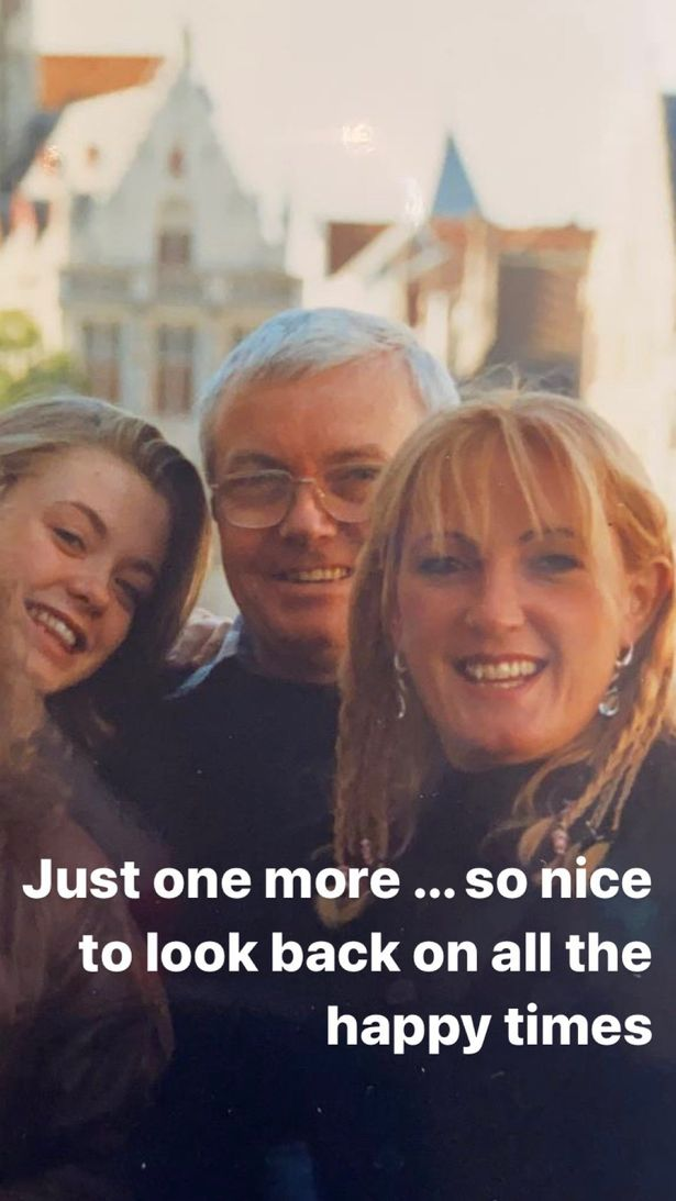 She shared pictures in happier times as she looked forward to reuniting with her loved ones