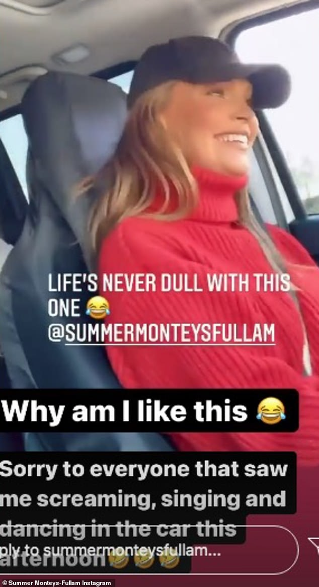 'Why am I like this': In clips posted on social media, Summer appeared to be driving the car while her mother Sabina, 47, and a younger girl were passengers