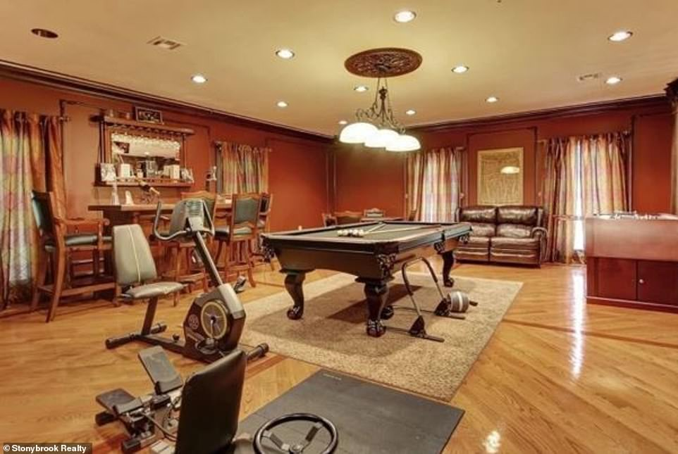 Fashion and function:The home is also equipped with a billiards room that at the moment also contains some exercise equipment enabling the TV icon to stay svelte