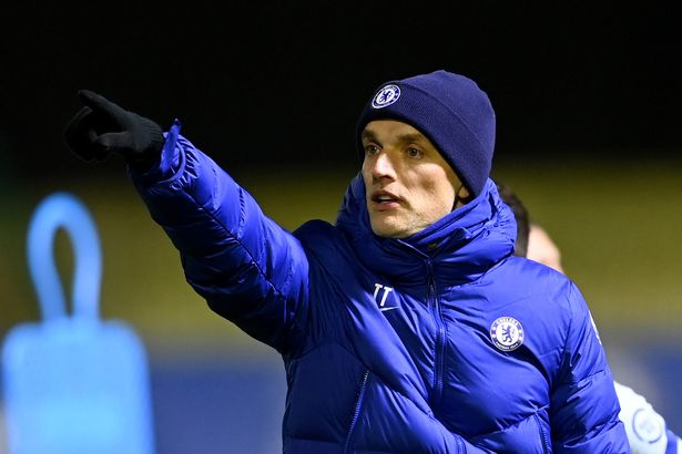 Thomas Tuchel of Chelsea during a training session at Chelsea Training Ground on January 26, 2021 in Cobham, England.