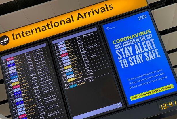 International arrivals board
