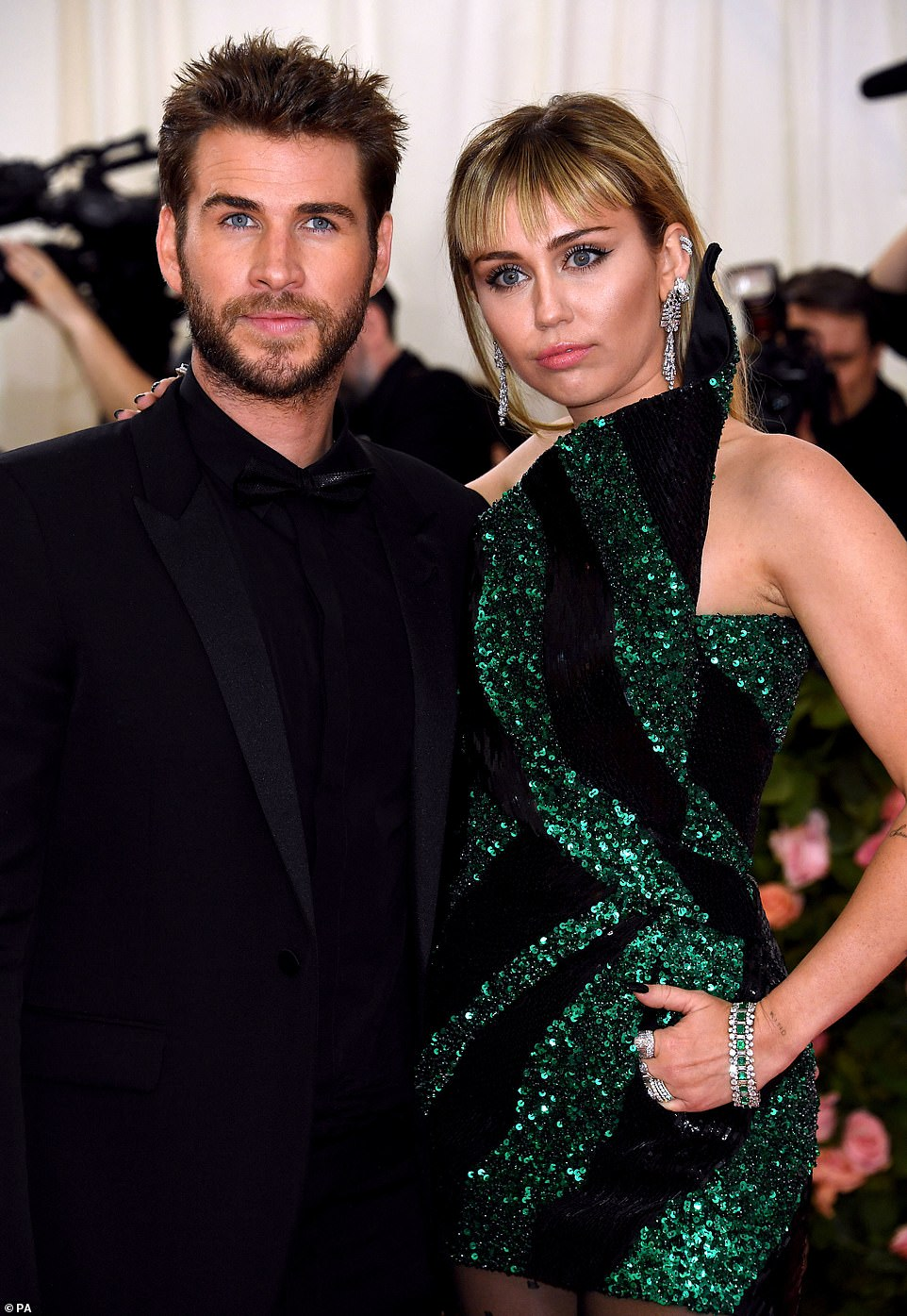 Ex: Cyrus was married to Liam Hemsworth from December 2018 to summer 2019. They're seen in May 2019 above, attending the Met Gala during one of their last public appearances together