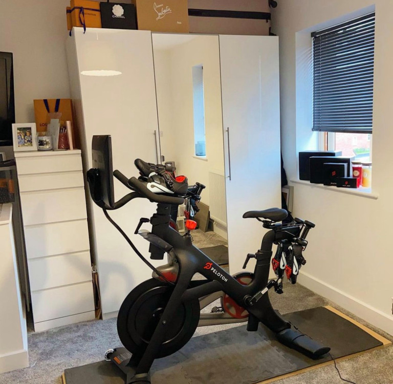 exercise bike in the spare room
