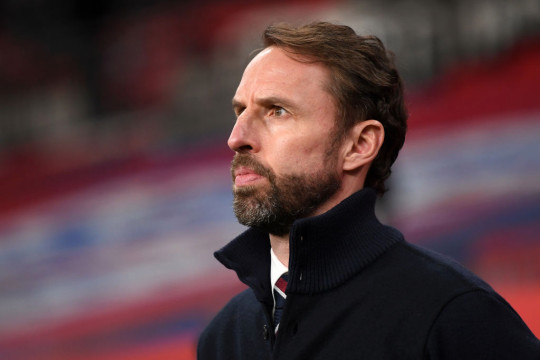 Gareth Southgate looks on during England's World Cup qualifier with San Marino