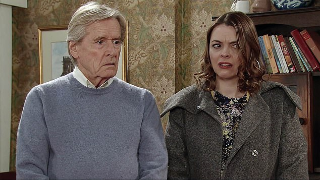 A spokesperson for Bill, said: 'Following recent reports about his health, William Roache has asked us to clarify that he took time off work after testing positive for Covid' (pictured 2017)