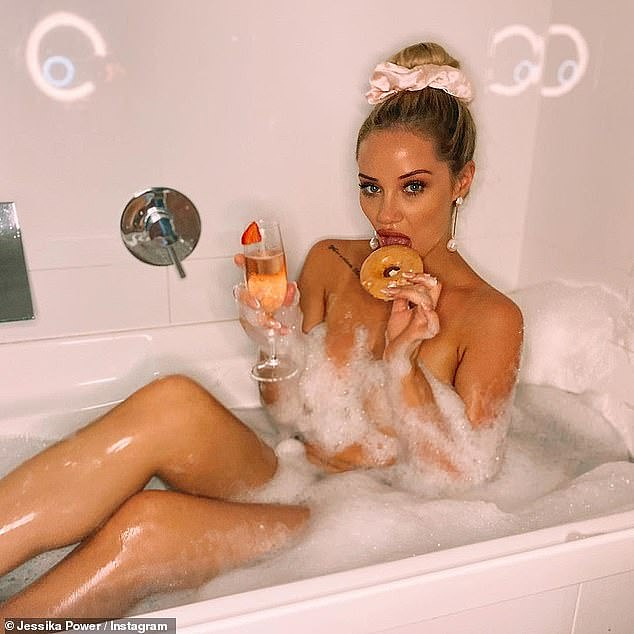 Wet and wild! Last year, the reality star posed in the bathtub with nothing more than the bubbles to protect her modesty