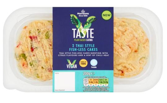 v taste thai vegan fish-less cakes