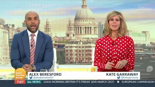Alex Beresford hosts for first time since Piers Morgan quit