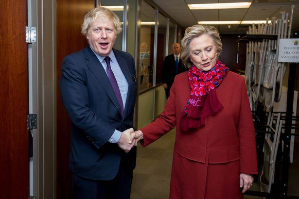 Boris meets Hillary on 2015 trip