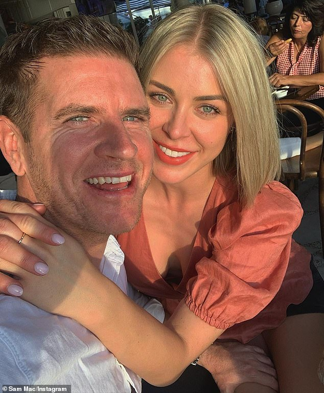 Over:Sam called it quits with his communications manager ex-girlfriend, Elle Whittaker (right) after just a few months together last July