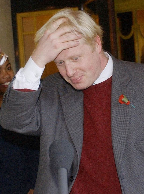 Boris after he was sacked in 2004